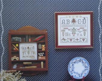 Eileen Bennett ANTIQUED SAMPLER Exemplary By The Sampler House - Counted Cross Stitch Pattern Chart
