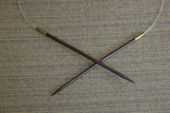 Knitting Needles Mm To Us : Wood circular knitting needles size us mm inch