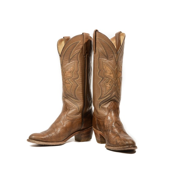 8 m capezio butterfly boots brown western inlay boots by - Brown butterfly meaning money ...