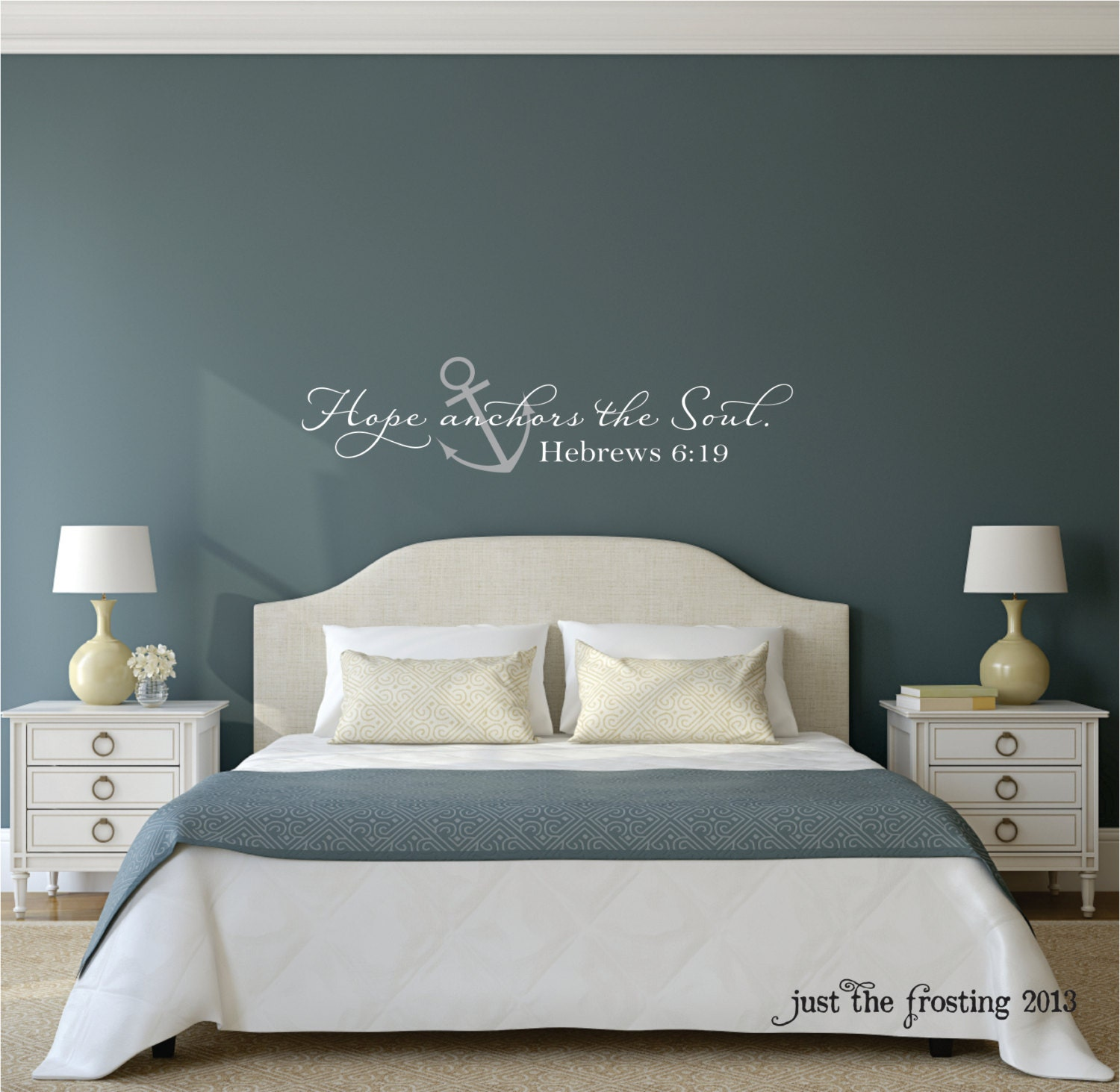 Hope anchors the soul wall decal hebrews 619 vinyl wall zoom amipublicfo Image collections
