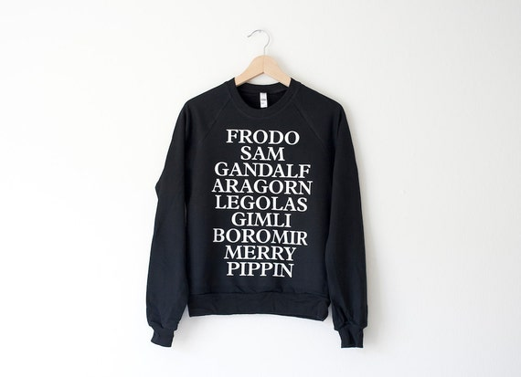 LOTR Sweatshirt (Fellowship of the Ring/Lord of the Rings Sweatshirt) - Made in USA by So Effing Cute