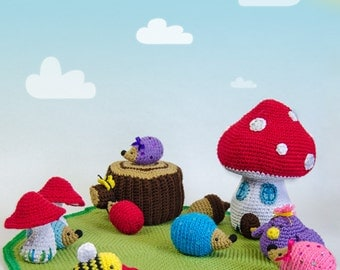 Adventure on the Woods Playset - PDF Crochet Pattern - Instant Download