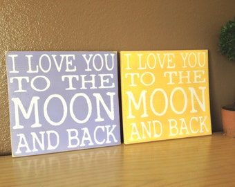 Ready to Ship I Love You to the Moon and Back Lilac