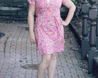 Magnolia Street Wrap Dress PDF sewing pattern for Women, wrap dress, wrap dress pattern, womens wrap dress, sewing pattern for women