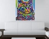 Angora Cat Wall Sticker - Animal Pop Art by Dean Russo