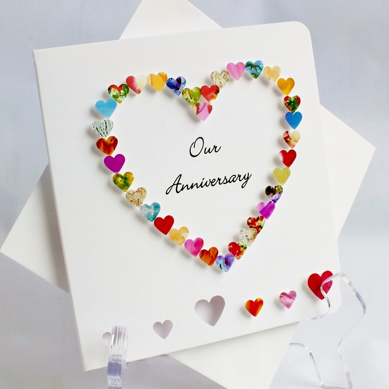 Handmade 3D Anniversary Card Our Anniversary On Your
