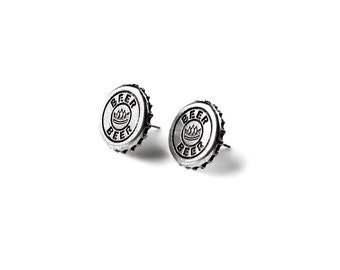 Beer Stud Earrings - Accessories - Women's Jewelry - Gift Idea - Handmade - Gift Box Included