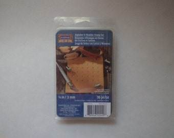 1/8 inch Alphabet & Number Leather Stamp Kit