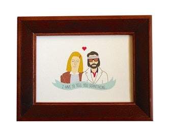 Margot and Richie, Wes Anderson print, Royal Tenenbaums print