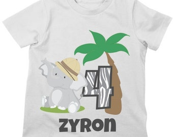 Zoo Animals Birthday Shirt or Bodysuit - Personalized Birthday Shirt with child's age