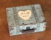 Wedding Card Box Trunk Love Letter Ceremony Anniversary Rustic Shabby Chic Vintage Wedding Custom ( MEDIUM)