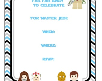 starwars invitation  etsy, Party invitations