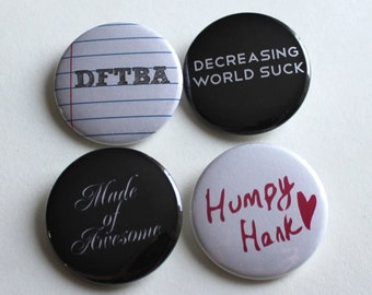 """NerdFighter Pinback Buttons   DFTBA 1.5"""" Inch   Made of Awesome"""