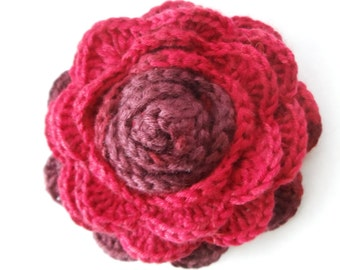 Crochet cabbage rose Etsy
