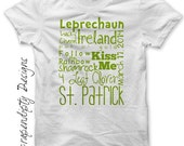 Iron on St. Patrick's Day Shirt PDF - Green Iron on Transfer / Digital Printable Art / Boys St. Pattys Day Baby / St Patricks Outfit IT378-P