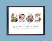 Personalized Brother Wall Art, Big Brother Little Brother, Brother Quote, Boy Room Decor