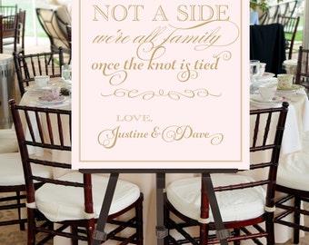 Wedding Seating Sign, PRINTABLE FILE, Blush Pink, Gold, Vintage Inspired, Calligraphy