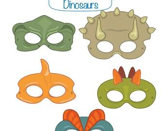 Dinosaurs Printable Masks, dinosaur mask, trex mask, triceratops, pterodactyl, stegosaurus, jurassic, dinosaur costume, dino, masks