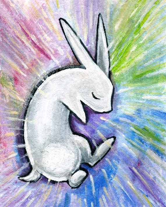 White rabbit painting - photo#23