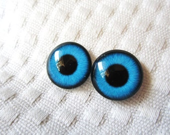 Glass eyes 16mm cabochons