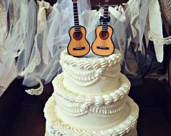 Electric guitarweddingcake topperguitarbridegroomrock