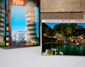Italy vintage postcard books travel Amalfi Coast and Pisa