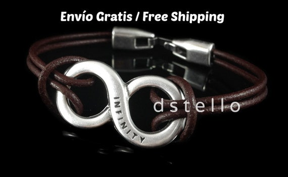 Woman, Man INFINITY engraved bracelet - Symbol - Unisex bracelet -  Genuine Leather - Perfect gift - European quality - Eternity - Jewelry