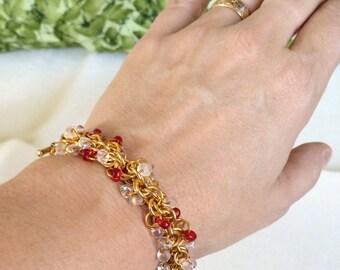 Sweetheart Shaggy Beaded Bracelet - Ready to Ship