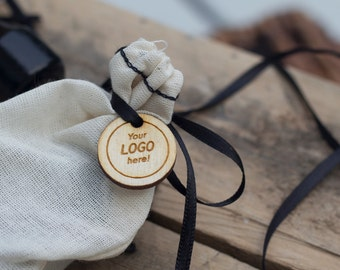 Gift tags Wooden Tags Logo Gift Tags Single Sided 50 pcs
