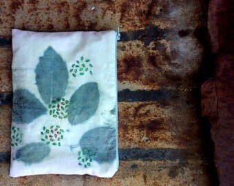 Embroidered Pouch / Eco Print Pouch / Ear Bud Pouch / Phone Pouch / Tampon Pouch / Charger Bag / Bluetooth Speaker Pouch / Jewelry Pouch