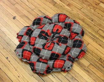 Cat Bed Medium Large Floor Pillow Argyle Sweater