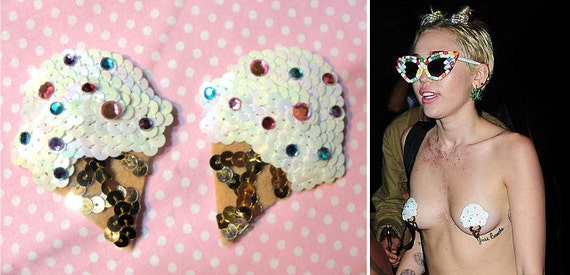 the original ice cream cone pasties miley cyrus burlesque