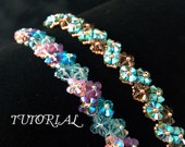 Tutorial PDF Right Angle Weave Swarovski Crystal Flower Tennis Bracelet, Instant Download