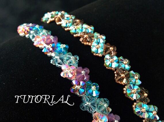 Right Angle Crystal : Tutorial pdf right angle weave swarovski crystal flower tennis