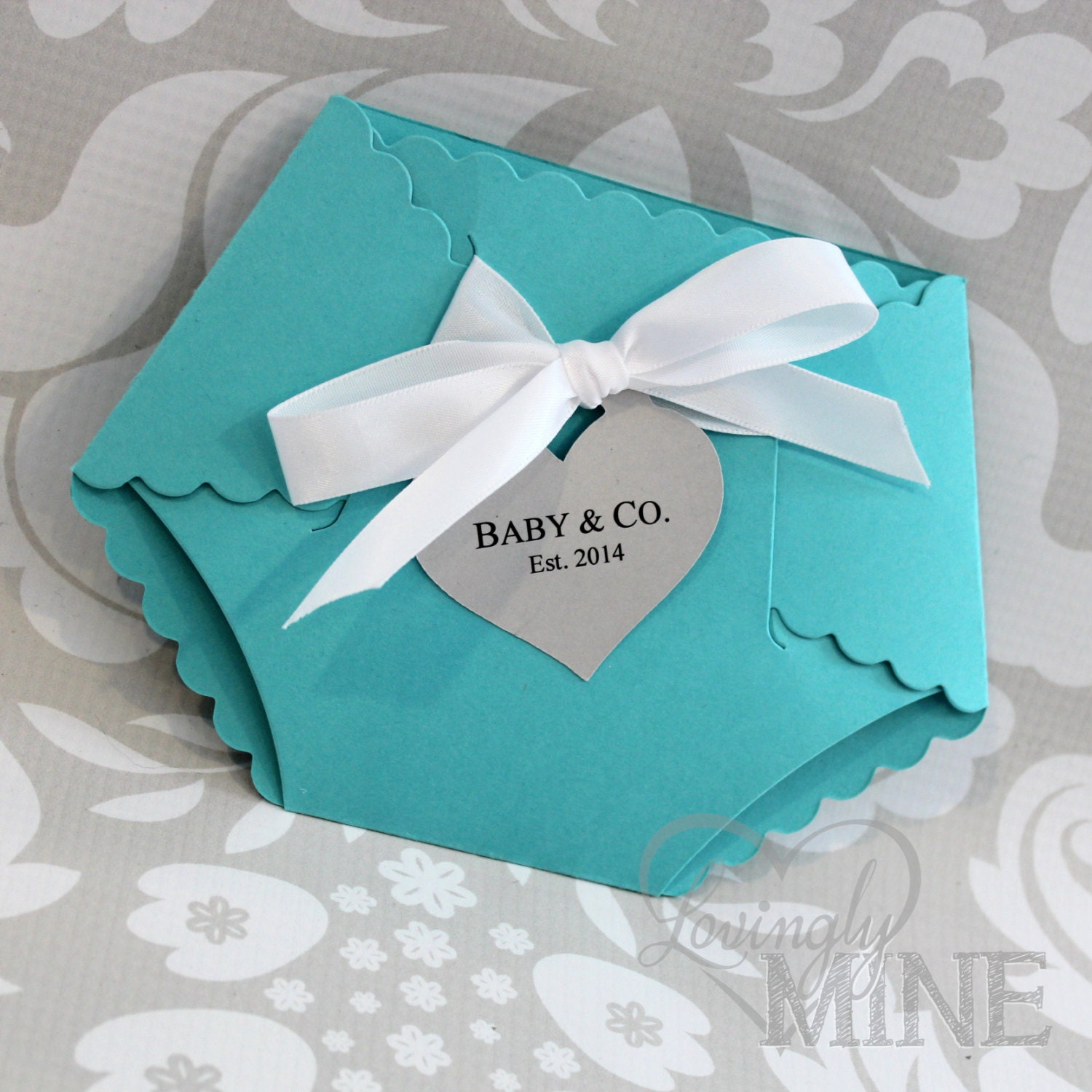 deluxe diaper shape baby shower invitation set of by lovinglymine, Baby shower