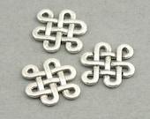 Celtic Knot Charms Endless Knot Antique Silver 8pcs zinc alloy pendant beads 12X15mm CM0484S
