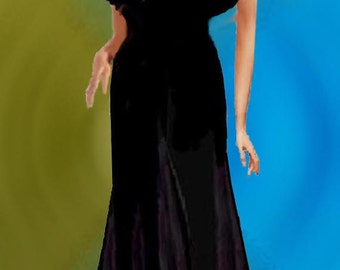 Shrug Organza Ruffled Black Only Made To Order