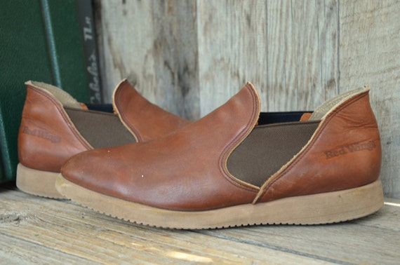 Vintage Red Wing Romeo Slip On Short Boots 9 5