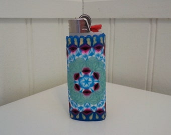 Complex Perler Bead LIGHTER CASE - pearl - flower of life - sacred geometry