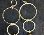Brass Double Hoop Earrings