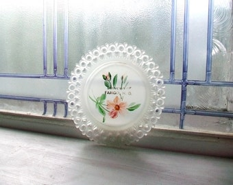 Vintage Souvenir of Fargo Pressed Glass Plate Pin Tray