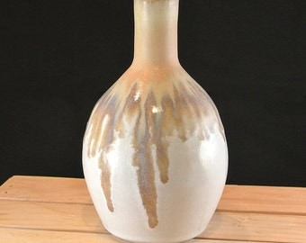 Yellow Dripping Bud Vase