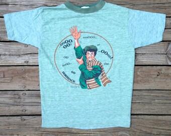 "vintage HORSHACK Ringer Shirt - ""Welcome Back Kotter"" - Size Extra Small"
