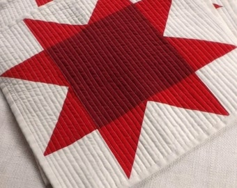 American Red Star Placemats (set of 10) Farmhouse Americana patriotic country home modern folk design red Christmas dinner table decor