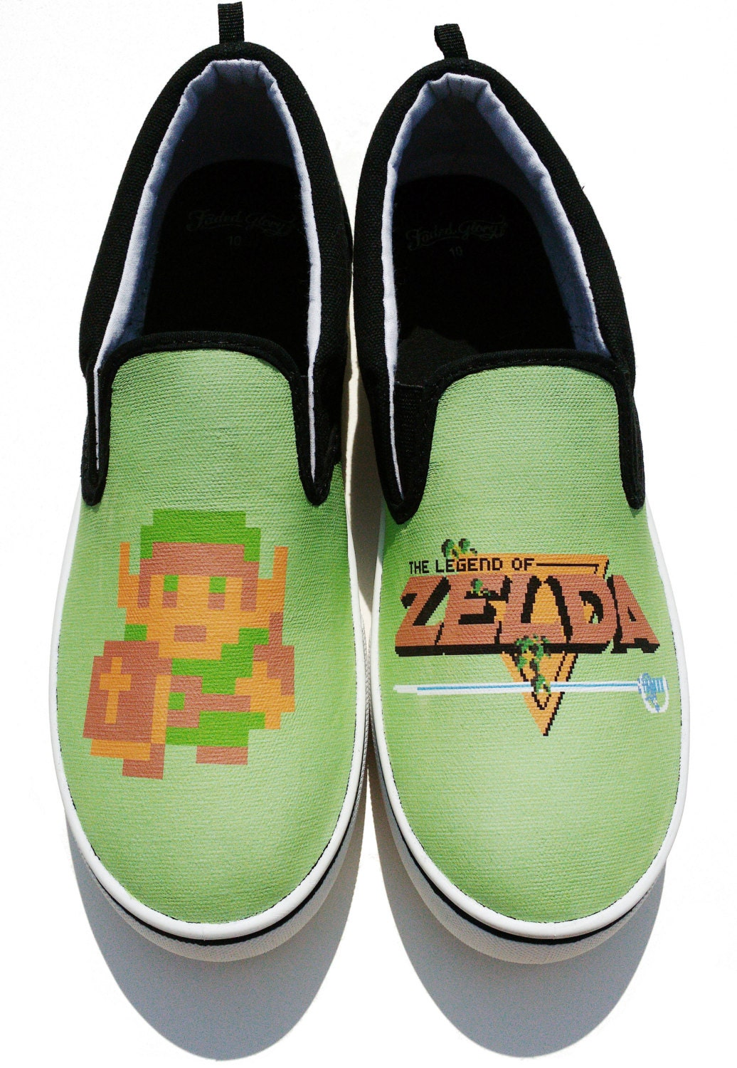 custom the legend of nes canvas shoes