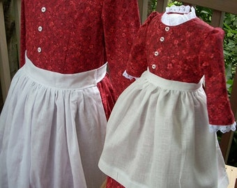 Girls Beth Pioneer with Matching Doll Outfit Special Order Only