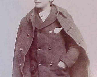 Charming Victorian Photograph of Dapper Young Man in 1880's Chicago