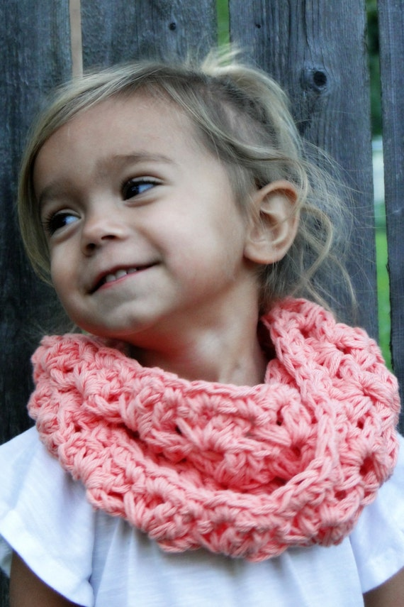 Crochet Cowl for Kids girls scarf kids infinity scarf