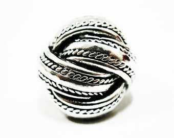 Size 10 Statement Silver Ring, Woven Silver Ring, Big Statement Ring, Heavy Metal Ring, Unique Ring, Unusual Ring,Men Women Statement Ring