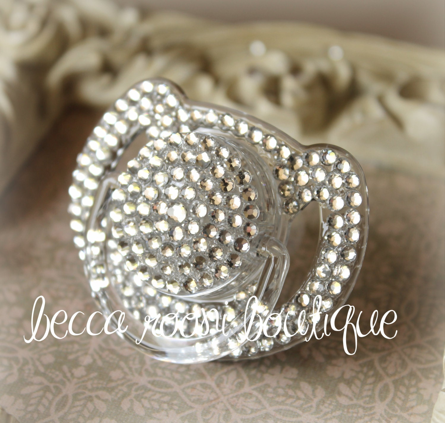 Items Similar To Bling Pacifier Clear Rhinestone Pacifier